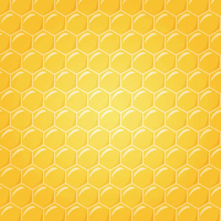 Honeycomb as illustration background, center in soft light illustration