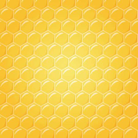 yellow  art: Panal como ilustraci�n de fondo, el centro en una luz suave