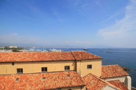 Antibes, FRANCE - 30 August 2014: View from studio and museum of Pablo Picasso, editorial