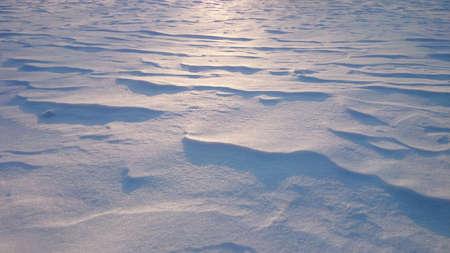 snowdrifts: Snowdrifts at contre jour lighting, sunset, horizontal