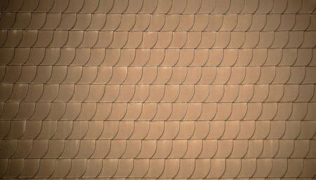 fish scales: Red roof tiles like fish scales as background, soft focus