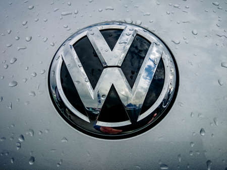 vw: Germering Auto Show, September 20, 2015 Germany - Sunday, VW logo Editorial