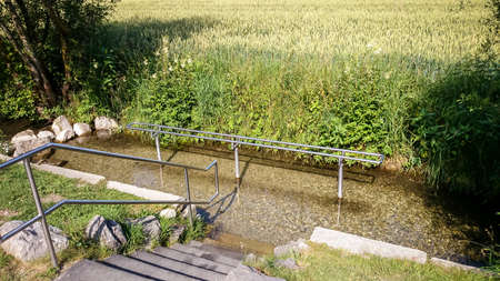 hydrotherapy: Kneipp hydrotherapy for water treading, public use