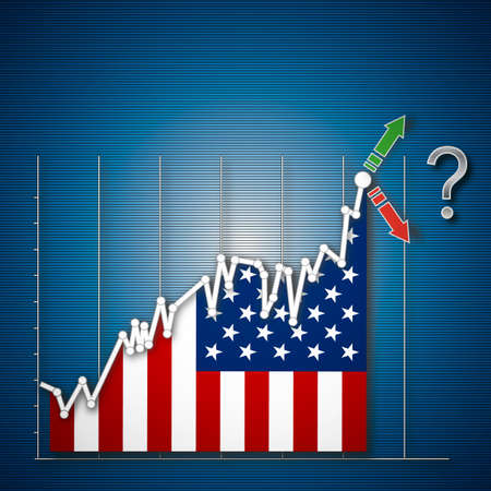 nasdaq: Empty USA Industrial stock exchange, illustration