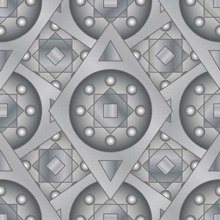 diamond plate: Seamless ritter designed background, gray Illustration