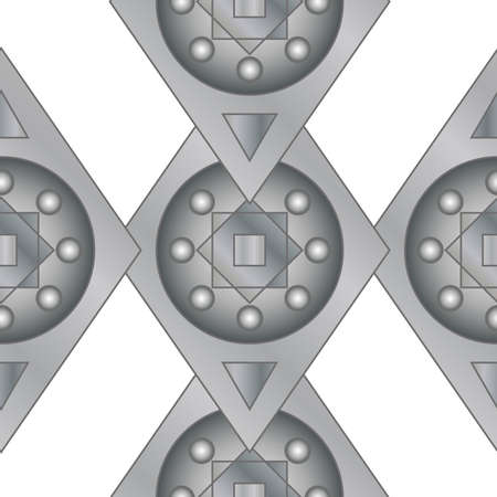 metal grid: Seamless ritter designed background, gray Illustration