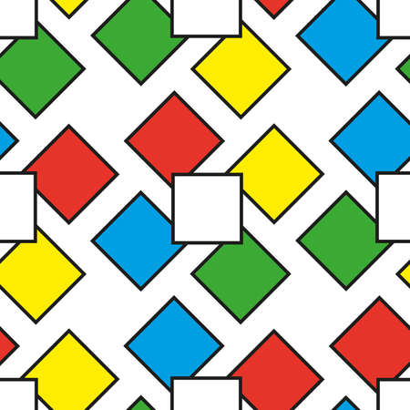 Colorful squares as seamless pattern, vector illustration Illustration