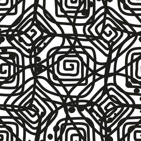 Abstract spiral as background, black and white Ilustracja