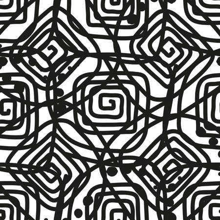 Spirale astratta come sfondo, bianco e nero Archivio Fotografico - 82339661