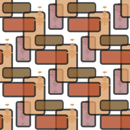 grid background: Abstract, seamless retro pattern from colored rectangles Illustration