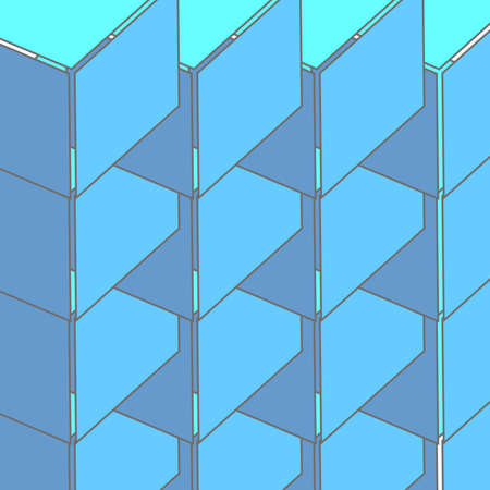 Abstract seamless 3d cubes pattern, vector background