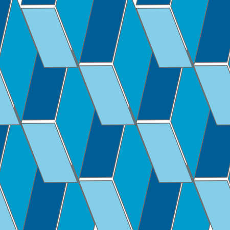 Abstract seamless 3d rhombus pattern, vector background