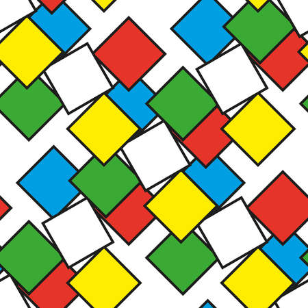 Kleurrijke vierkanten als naadloos patroon, vectorillustratie