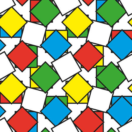 Colorful squares as seamless pattern, vector illustration Stock Photo