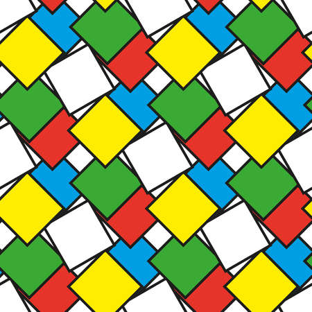 Colorful squares as seamless pattern, vector illustration Иллюстрация