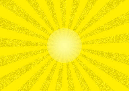Shining sun in retro style as vector graphics