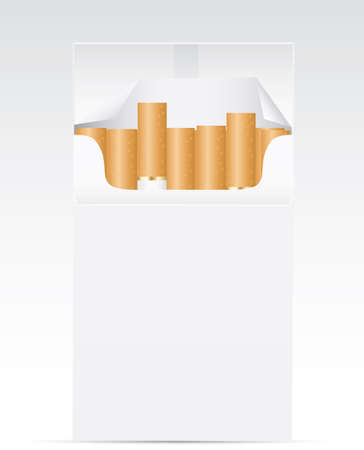 Pack of cigarettes. Ilustrace