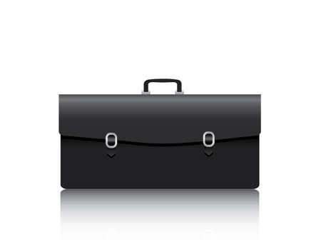 Briefcase on white background
