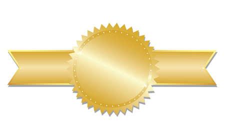 ribbon: Gold award.