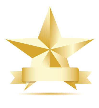 star award: Star gold label Illustration