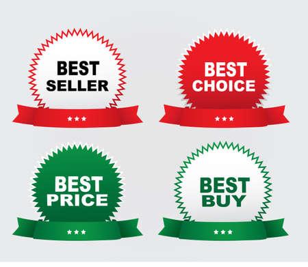Labels - Bestseller, best price,best buy,best choice