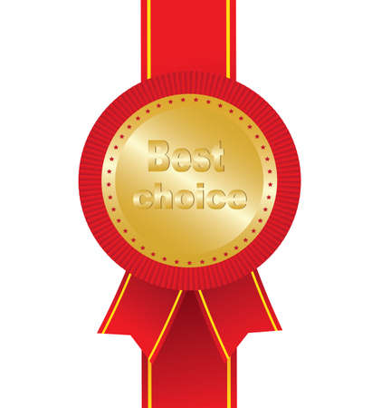 Red award - Best choice. Vector Illustration