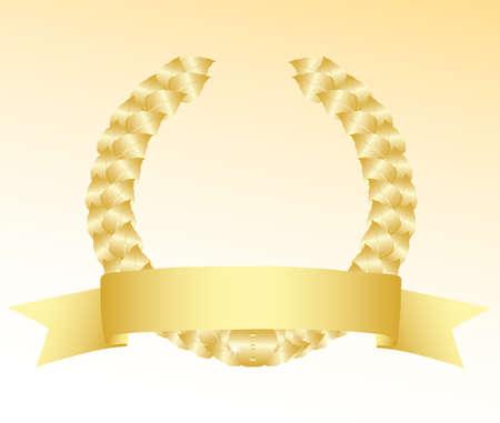 Blank gold label. Vector Illustration