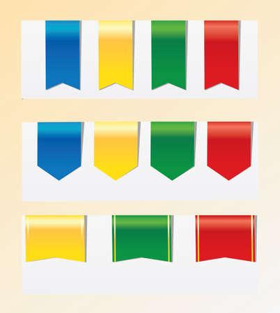 ribbons: Ribbons. Illustration
