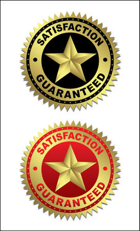 Quality Assurance: Labels - Satisfaction and guaranteed Illustration