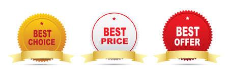 at best: Four labels - Best seller, Best buy, Best price, Best choice