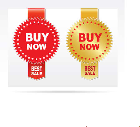 Labels - Buy now. Vector Illustration