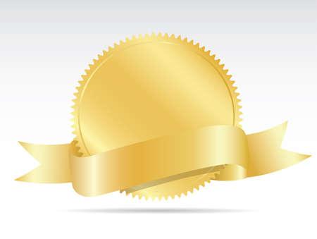 sellos: etiqueta en blanco del oro