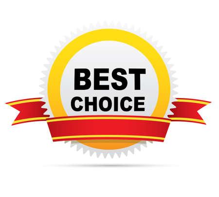 Label - Best Choice. Vector Ilustração