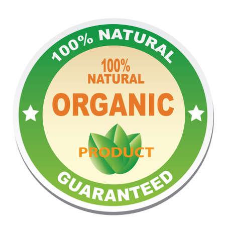 Sticker - 100 natural, organic product Illustration