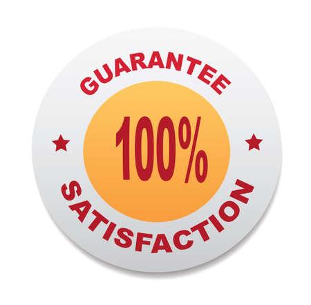 satisfaction guaranteed: 100 guarantee. Satisfaction guaranteed icon. Illustration