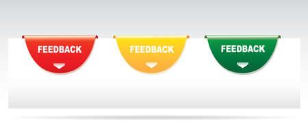 feedback: Feedback labels. Vector Illustration