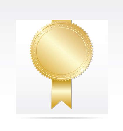 Gold award. Vector Illustration