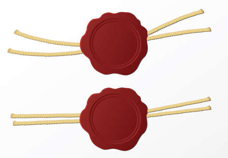 red wax stamp on a white background Illustration