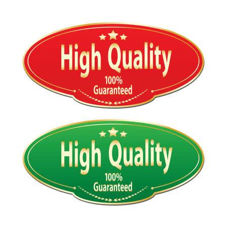high: High quality labels Illustration
