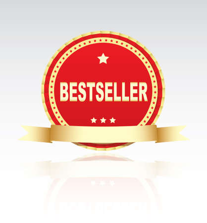 bestseller: Label - Bestseller. Vector Illustration