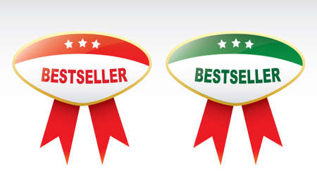 bestseller: Labels - bestseller. Illustration