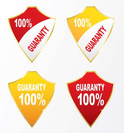 guaranty: Labels - Guaranty 100. Vector Illustration