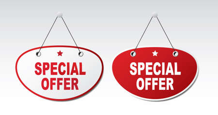 tape marker: 2 panels with text - Special offer.