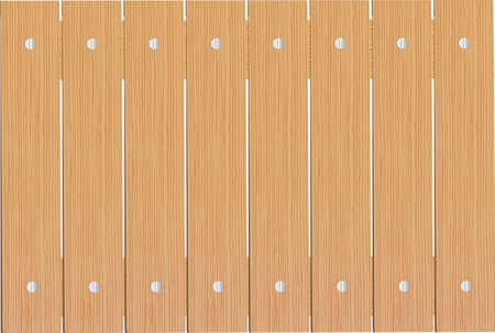 Wooden planks as background. Vector Vettoriali