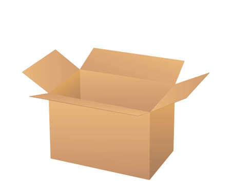 shipped: Cardboard boxe isolated on white.