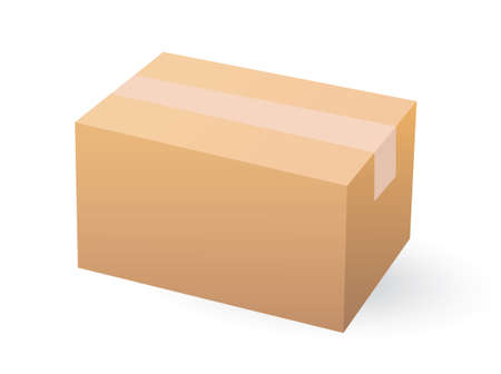 Cardboard boxe isolated on white.