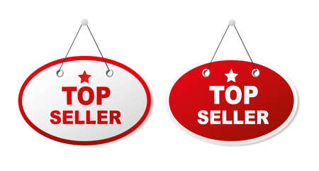 top seller: 2 panels with text - Top seller. Illustration