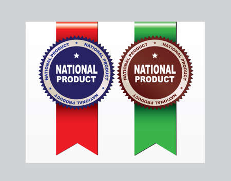 Labels with ribbons - National product.