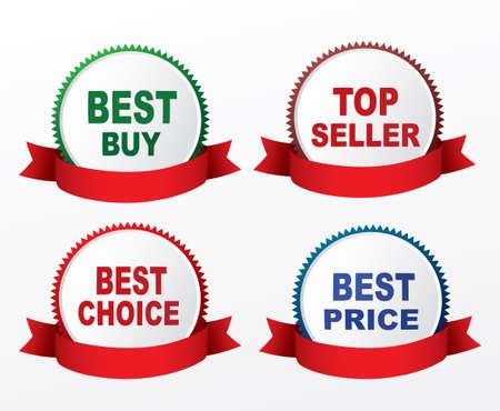 top seller: Best buy, top seller, best choice,best price labels.