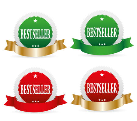 bestseller: Bestseller  labels. Illustration